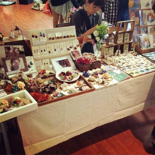 京都アートフリーマーケット 2015秋 YURA☆kikuko