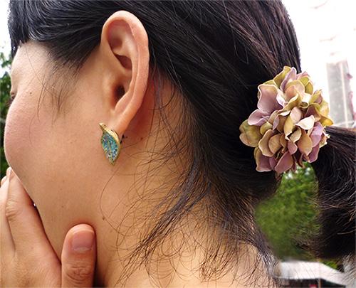 YURA・紫陽花アクセサリー、オーダー